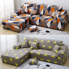 Load image into Gallery viewer, 9 Colors 1/2/3/4 Seaters Sofa Slipcover Stretch Protector Soft Couch Cover Anti-Slip Elastic Home Indoor Furniture Decor With One Pillowcase