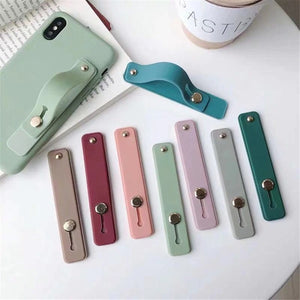 1PC Universal Candy Color Hand Band Bracket Finger Ring Push Pull Grip Stand Phone Holder