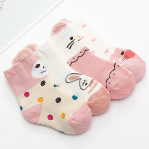 1 Pair  Non-slip Baby Socks Autumn Winter Sock Warm Boys Girls Clothing Accessories  0-3Y Baby
