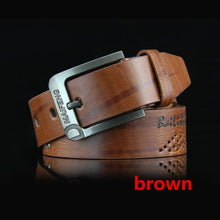 Load image into Gallery viewer, Men Leather Black Buckle Jeans Belt Cowskin Casual Belts Business Belt Cowboy Waistband