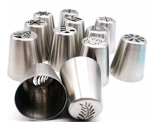 Hot 1pc Kitchen Baking Tool Piping Tips Cake Decoration Christmas Tree Cake Nozzle Cake Pastry Stainless Steel Baking Tools 30 models