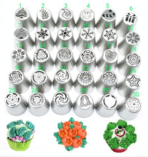 Load image into Gallery viewer, Hot 1pc Kitchen Baking Tool Piping Tips Cake Decoration Christmas Tree Cake Nozzle Cake Pastry Stainless Steel Baking Tools 30 models