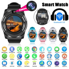 Load image into Gallery viewer, V8 1.22 Inch Smart Watch Anti-lost Sports Watch Sleep Monitoring Sedentary Reminder Talkable Multifunction Smart Watch Support Nano Sim Card