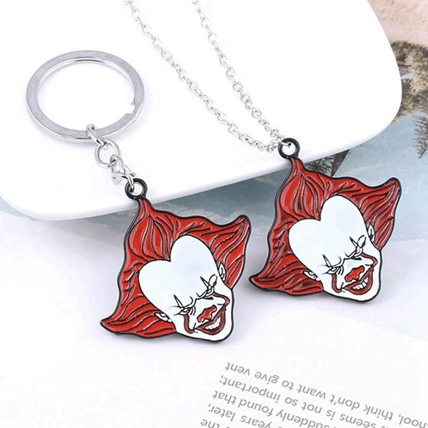 Horror Movie Stephen King'S It Enamel Pendant Necklaces For Women Men Cosplay Jewelry Halloween Gifts