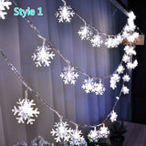 2 Styles Outdoor Christmas Curtain Lights Snowflake LED String lights LED Curtain Light Waterproof Christmas Light