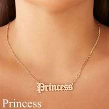 Load image into Gallery viewer, Letter Princess Necklace Old English Font Alphabet Princess Clavicle Short Chain Necklace Fashion Personality Female Jewelry Gift For Girls Women Lovers