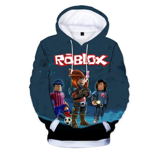 Fashion  Children's Wear Roblox 3D Color Printing Hoodie Cool Digital Printing Hooded coat