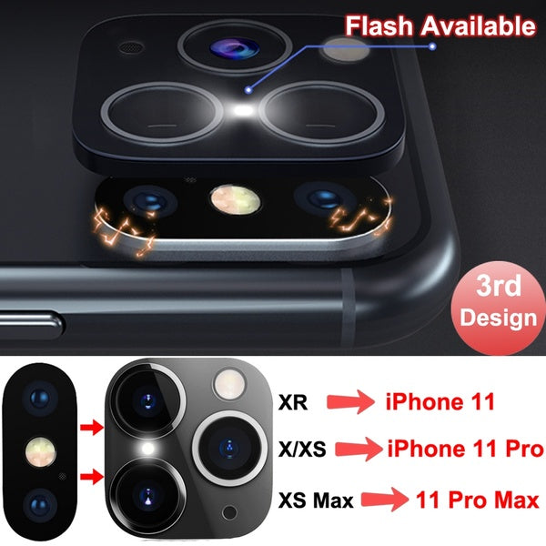 New Design iPhone X XR XS XS Max Chage To iPhone 11 Pro Max Camera Lens Converter Protector