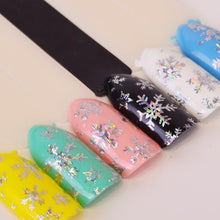 Load image into Gallery viewer, 4 Styles New Christmas Nail Stickers 3D Nail Stickers Nail Decals Stickers Snowflake Nail Art Star Nail Stickers Laser Glitter Christmas Nail Art Transfer Foil Nail Transfer Stickers 100x4cm