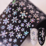 4 Styles New Christmas Nail Stickers 3D Nail Stickers Nail Decals Stickers Snowflake Nail Art Star Nail Stickers Laser Glitter Christmas Nail Art Transfer Foil Nail Transfer Stickers 100x4cm