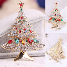 Load image into Gallery viewer, Women Christmas Tree Brooch Fashion Scarf Clip Christmas Gift Party Wedding