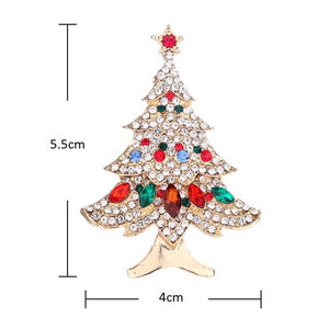 Women Christmas Tree Brooch Fashion Scarf Clip Christmas Gift Party Wedding