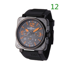 Load image into Gallery viewer, Mens Military quartz Movement Wristwatches watches Silicone Rubber Straps Watch(44MM 12Colors)