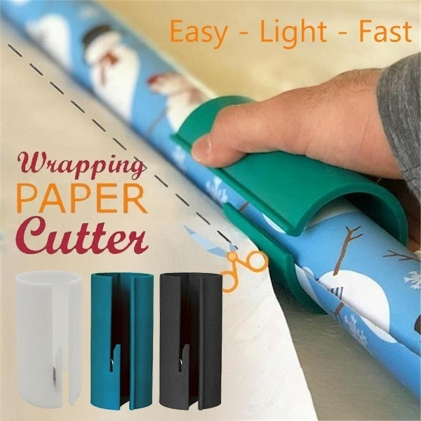 Sliding Wrapping Paper Cutter Christmas Gift Wrapping Paper Roll Cutter Tool Cuts the Prefect Line Every Single Time