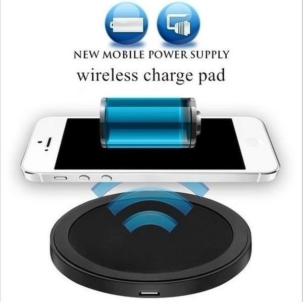 New Hot Sales Qi Wireless Power Charger Charging Pad for Mobile Phones & Intelligente Lade Adapter Receiver  US