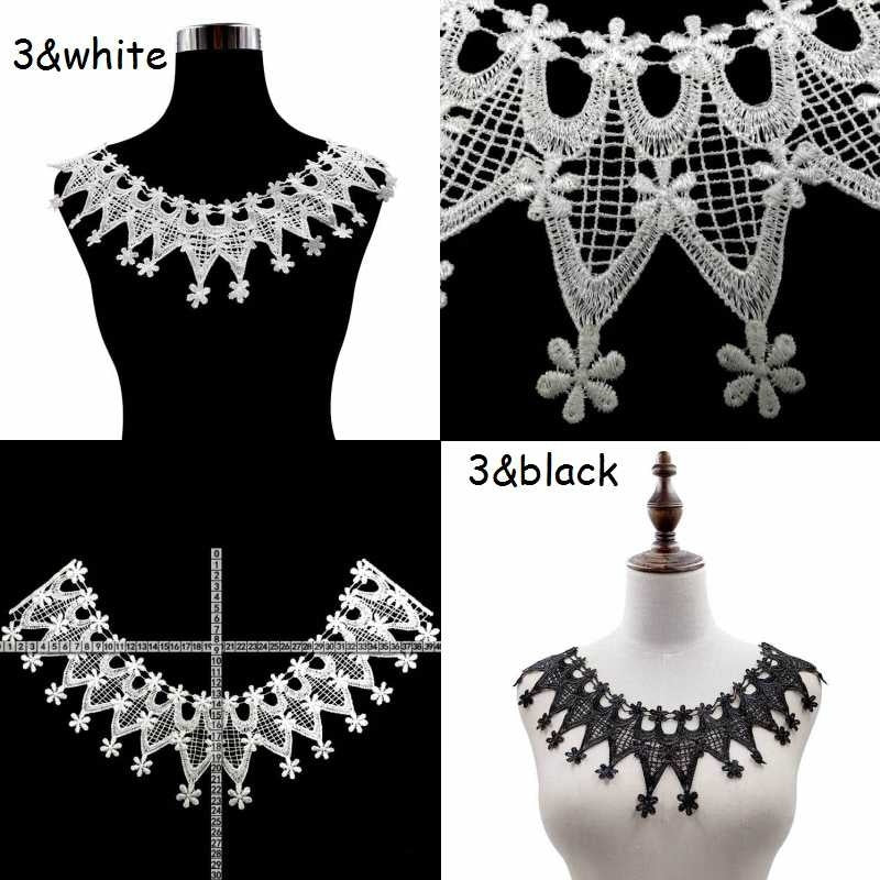 Dress Applique Lace Fabric Blouse Costume Decor Accessories Diy Neckline Collar Sewing Trims 6 Styles
