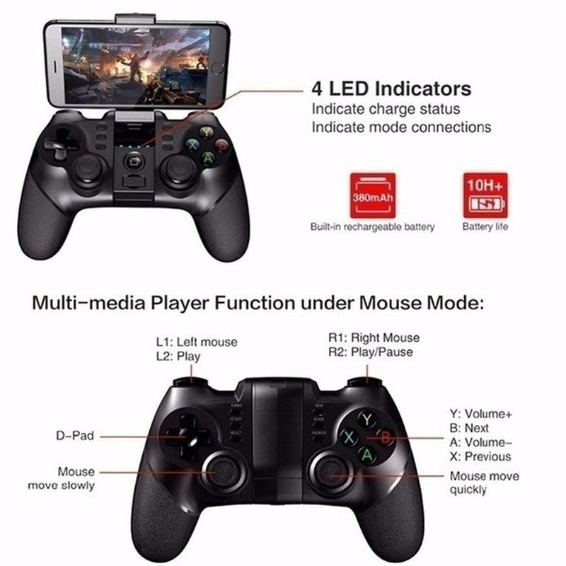 2020 New Mobile Phone Wireless Bluetooth Game Controller Phone Android Phone Tablet PC Gaming Console Controle Joystick Gamepad Joypad