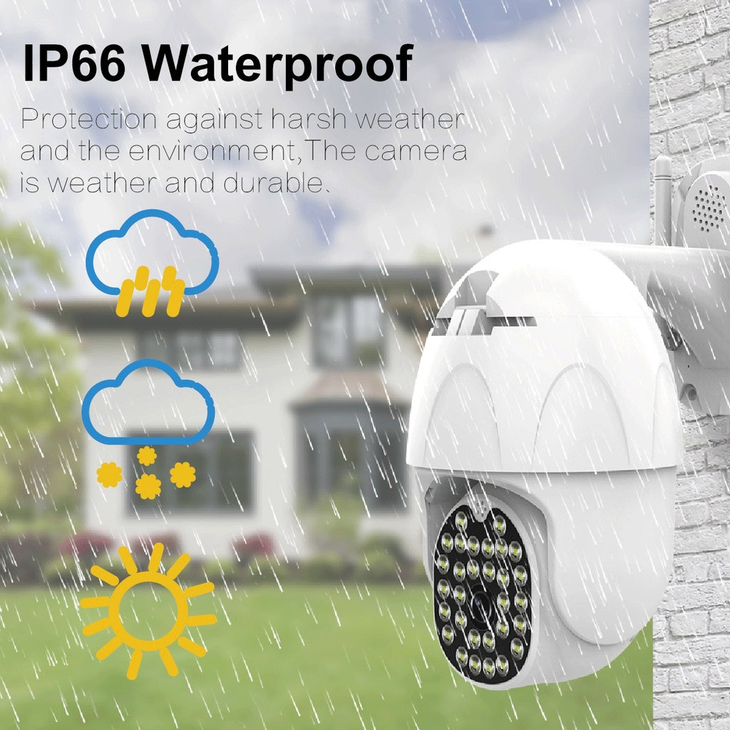 30 LEDs HD 1080P  3 Modes Smart 164FT Monitoring Distance PTZ WiFi IP Camera Dual 5DB Antennas  Home Security Surveillance