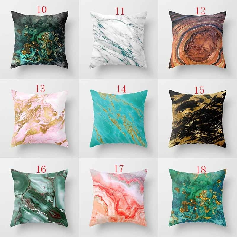 18 Inch Natural Stone Agate Background Texture Throw Pillow Cover Sofa Living Room Cushion Cover