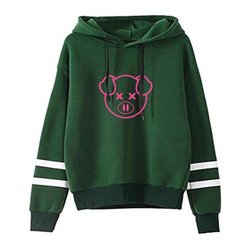 Fahion Women Hoodies Shane Dawson Cute Pig Printed Sweatshirts Casual Fleece Hooded Pullovers