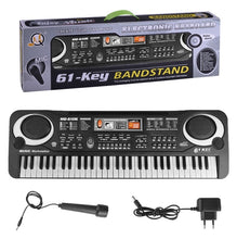 Load image into Gallery viewer, 61 key multifunction electronic piano microphone electronic piano adult children musical instrument toy