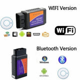 WIFI Bluetooth ELM327 Scanner Wireless OBD2 Auto Scanner Adapter WIFI Scanner Scan Tool for IOS&Android V1.5 BHT