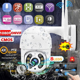 New HD 1080P WiFi 2MP Camera Wireless IP Security Surveillance Camera with Onvif Outdoor Infrared CMOS Camera External TF Card [16G/32G/64G TF Card(optional)]