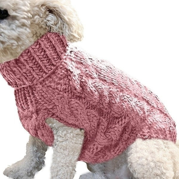S/M/L/XL Solid Colour Dog Sweater Pet Supplies Knitted Jumper Sweater Winter Warm Puppy Dog Clothes Pet Clothes