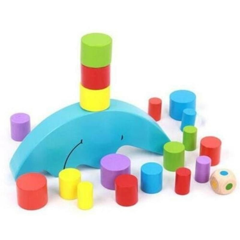 Moon Equilibrium Blocks Game Puzzle Toy for Kids Early Education