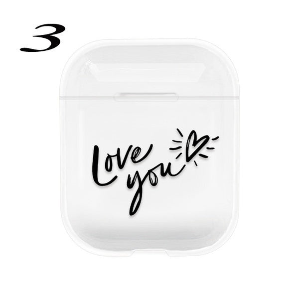Crystal Cute Earphone Case For Apple AirPods Case Hard PC Transparent Protective Cover For Airpods Accessories Charging Box