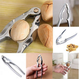 Quick Nutcracker Sheller Cracker Aluminum Alloy Walnut Plier Nut Hard Shell Opener Kitchen Tool