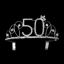 Load image into Gallery viewer, Birthday Crown Crystal Birthday Crown Girl Tiara Princess Crown Happy Birthday Crown 16th 18th  21th 20th 30th 40th 50th 60th 70th 80th 90th