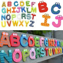 Load image into Gallery viewer, Fridge Wooden Magnet Baby Children Toy A-Z ABC Educational Alphabet 26 Letter