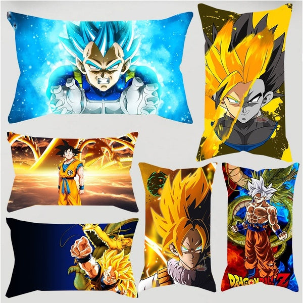 1PC Fashion Popular Dragon Ball Z Super Saiyan Single Side Print Polyster Pillowcase Car Sofa Waist Cushions Kissen Oreiller Almohada Pillow Sofa Car Bed Sofa Pillow Case Bedroom Decoration Cushion Cover