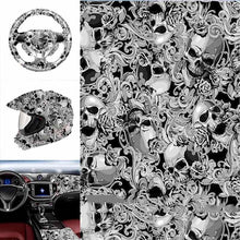 Load image into Gallery viewer, 50*100cm Skull Water Transfer Printing Dipping Laser Carvin Hydrographic Film