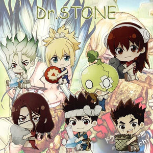 Anime Dr.Stone Acrylic Keychain Keyring Cartoon Cosplay Cute Pendant Accessories