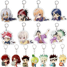 Load image into Gallery viewer, Anime Dr.Stone Acrylic Keychain Keyring Cartoon Cosplay Cute Pendant Accessories