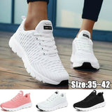 Women Breathable Knit Sneakers Sports Running Shoes Anti-slip Casual Shoes Lightweight Tennis Walking Shoes