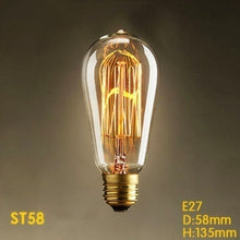 Load image into Gallery viewer, Led Bulb Retro Vintage Light Bulb 40W 220V E27 Base Decorative Led Edison Bulb