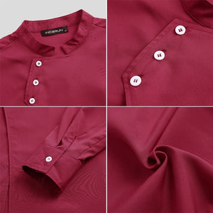 2020 Unisex Women Mens Long Sleeve Buttons Chef Jacket Uniforms S-5XL 3 Colors