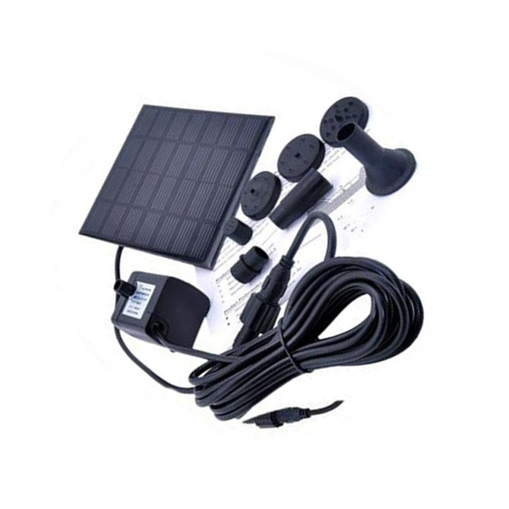 1.4 Watt Solar 12 V Water Pump Fountain Submersible Pump for Outdoor Garden Bath Fish Tank square shape