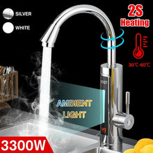 Load image into Gallery viewer, (2S Heating) 4 Types 3000W/3300 Electric Heating Faucet Instant Hot Water Tap With LED Ambient Light Temperature Display