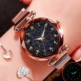 Fashion Starry Sky Lady Wristwatch Luxury Rose Gold Watches Magnet Buckle Fashion Luxury Brand Female Watch Gifts Reloj Mujer