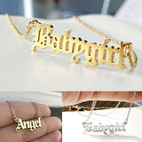 1pc Mom Girlfriend Gifts Stainless Steel Birthday Jewelry Princess Blessed Necklace Honey Angel Babygirl Letter Pendant Necklace
