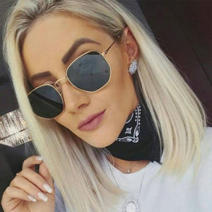 2020 New Polygonal Women Sunglasses Men Glasses Lady Luxury Retro Metal Sun Glasses Vintage Mirror UV400 Outdoor Sunglasses Accessories Gifts