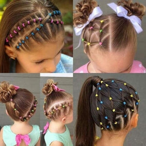 2500/1000PCS New Arrival Baby Kids Multicolor High Quality Rubber Band Tie Ponytail Holder Ponytail Holder Rubber Bands Hair Accessories Hair Band