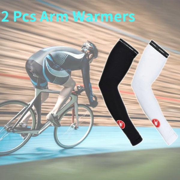 New Pro Cool Warm 2 Pcs Thermo Flex Arm Warmer Cycling Arm Sleeve Breathable Sport Sleeve Arm Protector SUP