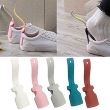 Load image into Gallery viewer, 1Pc/2Pcs Lazy Shoe Helper Unisex Handled Shoe Horn Easy On&Off Shoe Lifting Helper