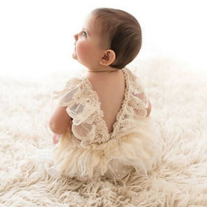 Newborn Baby Girl Summer Lace Floral Romper Bodysuit One-Piece Outfit Clothes Set 0-24 M