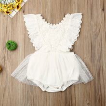 Load image into Gallery viewer, Newborn Baby Girl Summer Lace Floral Romper Bodysuit One-Piece Outfit Clothes Set 0-24 M